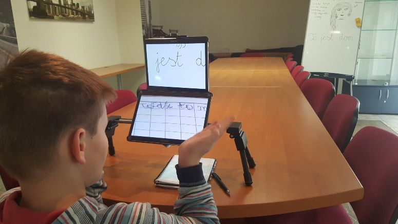 learning to write using optical aids